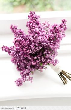wedding flowers - lilac