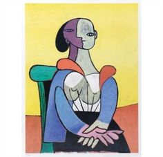 Pablo Picasso, Yellow Background Woman Seated