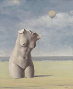 René Magritte (1898-1967) Quand l'heure sonnera signed 'Magritte' (lower right); titled 'Quand l'Heure sonnera' (on the reverse) oil on canvas 39 3/8 x 31 7/8 in. (100 x 81 cm.) Painted circa 1964-1965