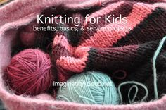 Good tips for teaching kids to knit, including two cute rhymes.
