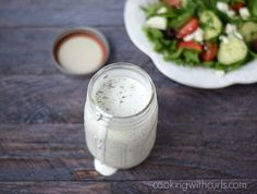 Creamy Feta Dressing | Cooking with Astrology #Leo | cookingwithcurls.com