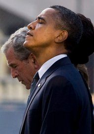 """Mr. Obama read from Psalm 46: """"God is our refuge and strength."""""""