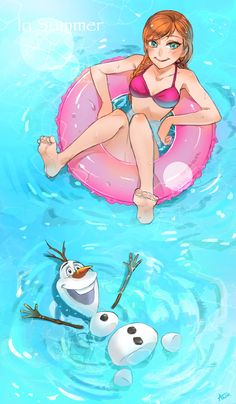 Cool! LOL, get it? COOL? No? Yeah ok. OLAF IS SO CUTE!