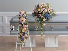 Spray Arrangements for the Family | Funeral Flowers by Lorraine | Fairfield County, Connecticut