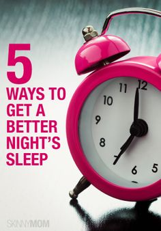 Feel much better in the morning with these 5 tips to make sleeping easier.