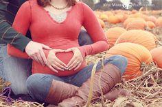 Heart Bump Pumpkin Patch Maternity