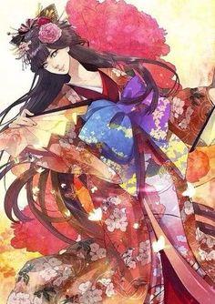 Hinata in yukata on We Heart It