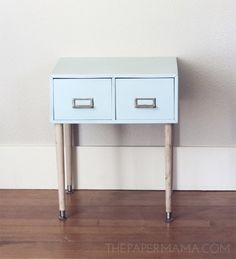 From Old to New: Filing Cabinet Side Table