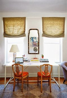 Manhattan Upper East Side workspace of designer and blogger...