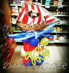 #dolcemania #palloncini #puglia #sangiovannirotondo #balloons #balloon #foggia #gargano #italia #italy #balloonart #nave #pirati #mare #sea #polipo #squid #onde #compleanno #boat #veliero
