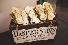 For guests so they can get out of those not-so-comfy heels!
