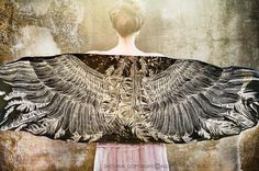 Black Silk cotton scarf, Hand painted Wings and feathers, stunning unique and useful, perfect gift