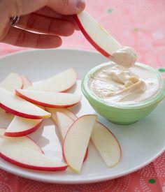 peanut butter yogurt dip.