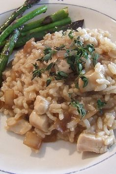 Roasted Chicken with Risotto and Caramelized Onions Recipe