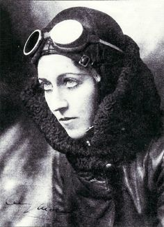 Amy Johnson CBE 1903-1941 was the first female pilot to fly alone from Britain to Australia. During WWll she flew as part of the Air Transport Auxiliary and subsequently died during a ferry flight.