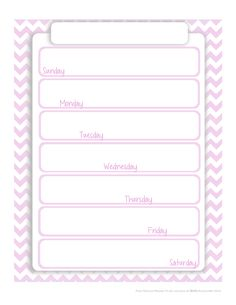 fashionable moms free printable planner page