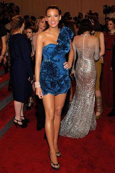 Blake attended the Metropolitan Museum of Art's 2010 Costume Institute Gala in a short, ruffled Marchesa dress.    - ELLE.com