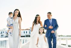 Wedding in Greece, Wedding Moments, Father & Bride, Here comes the bride, Island Wedding