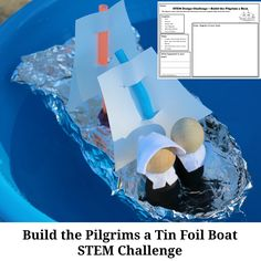 Boat Plans - Build the Pilgrims a Tin Foil Boat STEM Challenge - Master Boat Builder with 31 Years of Experience Finally Releases Archive Of 518 Illustrated, Step-By-Step Boat Plans Boat Building Plans, Boat Plans, Stem Activities, Activities For Kids, History Activities, Thanksgiving Activities, Thanksgiving Feast, Educational Activities, Foil Boat