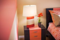 Paint a piece of furniture to add drama to a room