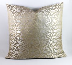 Gold and Silver Silk  throw Pillow Cover Silk Pillow 18x18 inch  sham Pillow  Accent Pillow, natural texture Pillow, Homedecor and houseware