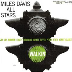 Walkin' is a Miles Davis album released in 1957 by Prestige Records. The album compiles material previously released on two 10 inch LPs in along with o. Lp Cover, Vinyl Cover, Lp Vinyl, Vinyl Records, Cover Art, Vinyl Art, Louis Armstrong, Music Album Covers, Music Albums