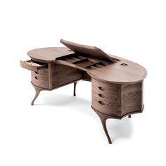 Big Bean by Ceccotti Collezioni is a writing desk manufactured in solid American…