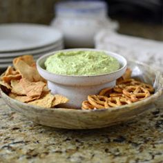 Leafy greens brighten up the flavor of traditional hummus.  Quick and Easy.