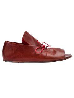 MARSÈLL Lace-Up Detail Sandals. #marsèll #shoes #flats