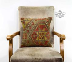 Vintage Earthy Color Nomad Handwoven Turkish by AnatoliaCollection