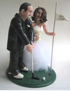 Golf Wedding Cake Topper 5000 Via Etsy