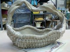 Clay Basket before glazing