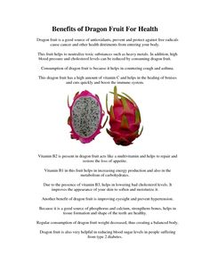 benefits of dragon fruit - Google Search