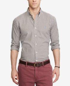 Polo Ralph Lauren Men's Classic Fit Checked Poplin Shirt - Brown/White Multi XXL