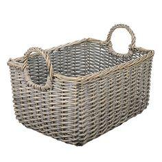 Buy John Lewis Wicker Medium Basket, Grey Online at johnlewis.com