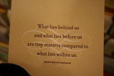 Ralph Waldo Emerson. This is the quote I've decided on for my school's graduation announcements