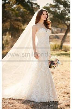 Essense Of Australia Lace Fit And Flare Wedding Dress Style D2109 on sale at reasonable prices, buy cheap Essense Of Australia Lace Fit And Flare Wedding Dress Style D2109 at www.smilebridal.com now!