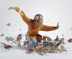 Incrível ensaio do fotógrafo alemão Martin Klimas. As fotos são feitas no momento do impacto das peças de porcelana