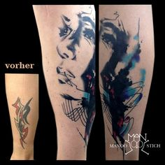 manoo stich tattoos, berlin www.stichpiraten.de #watercolourtattoo #cover up