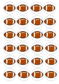 24 Rugby Balls Wafer / Rice Paper Cupcake Topper Edible Fairy Cake Bun Toppers | eBay