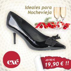 ¿Preparada para la noche más mágica del año? Entra en nuestra tienda online y consigue tus Exé #Shoes para esta #nochevieja a precios INCREIBLES.