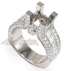 Semi-Mount-Diamond-Engagement-Ring-Pave-Setting-18k-Solid-Gold-Sizes-4-to-9-5