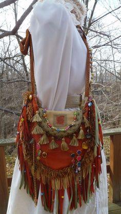 Handmade Bag Hippie Gypsy Cross Body Boho Hobo Ibiza Genuine & Vegan Suede #Handmade #boho