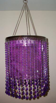 Modern Violet Chandelier > $17.95 Rain Drop, One Light - http://chandeliertop.com/modern-violet-chandelier-17-95-rain-drop-one-light/