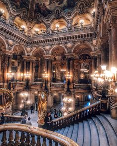 The Opera Garnier in Paris took our breath away 🤯 It's hard to tell if we've ever seen a building with more beautiful interiors 😍 We love… Baroque Architecture, Architecture Design, Classical Architecture, Palaces, Zion National Park, National Parks, Mundo Do Marketing, Destinations, Thing 1