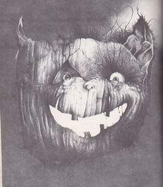 """An Illustration by Stephen Gammell from """"Halloween Poems"""" by Myra Cohn Livingston, published in 1989 by Holiday House."""