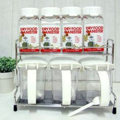 Lock Lock Seasoning Case 7pc Set Food Storage Containers Sugar Salt Spice  Case | EBay