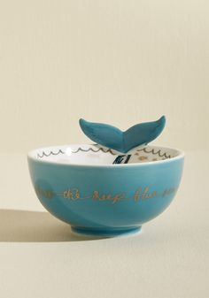 Having Fin Yet? Ceramic Whale Bowl by Disaster Designs from ModCloth Simple Gifts, Easy Gifts, Ceramic Planters, Ceramic Bowls, Mermaid Bowl, Disaster Designs, Ocean Home Decor, Paint Your Own Pottery, Furniture Stores Nyc