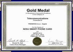 NESU Smart Phone Card Medal Certification