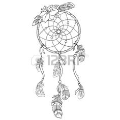 Dream Catcher Outline Dream Catcher Tattoo Outline Idea  Tattoo  Pinterest  Tattoo